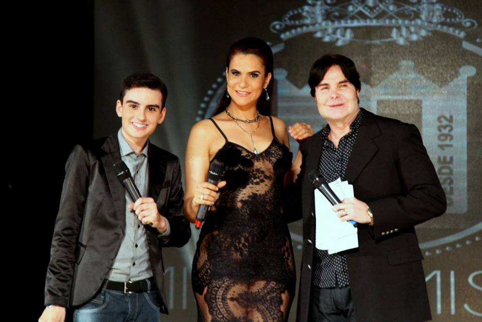 Os apresentadores Dudu Camargo, Gilmelândia e Evê Sobral. Foto: Salani Antônio