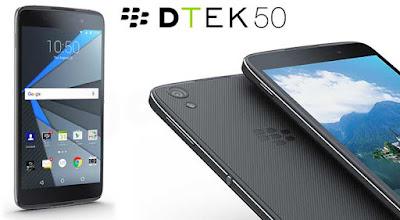 Spesifikasi dan Harga Terlengkap Blackberry DTEK50