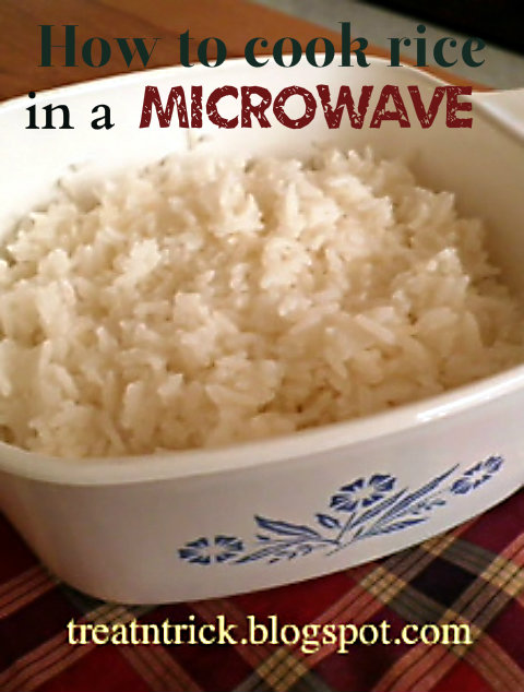 How to cook rice in a microwave Recipe  @ treatntrick.blogspot.com