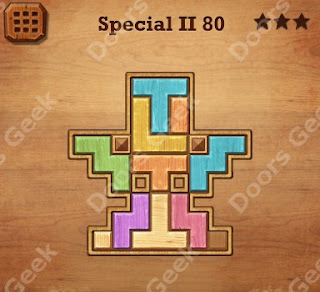 Cheats, Solutions, Walkthrough for Wood Block Puzzle Special II Level 80