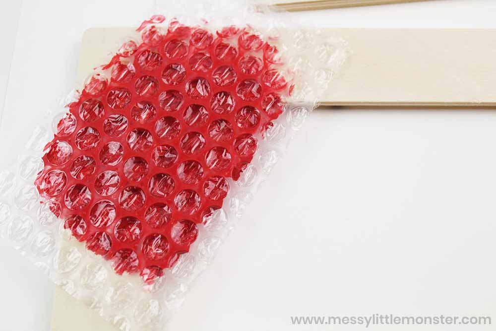 bubble wrap painting picture frame