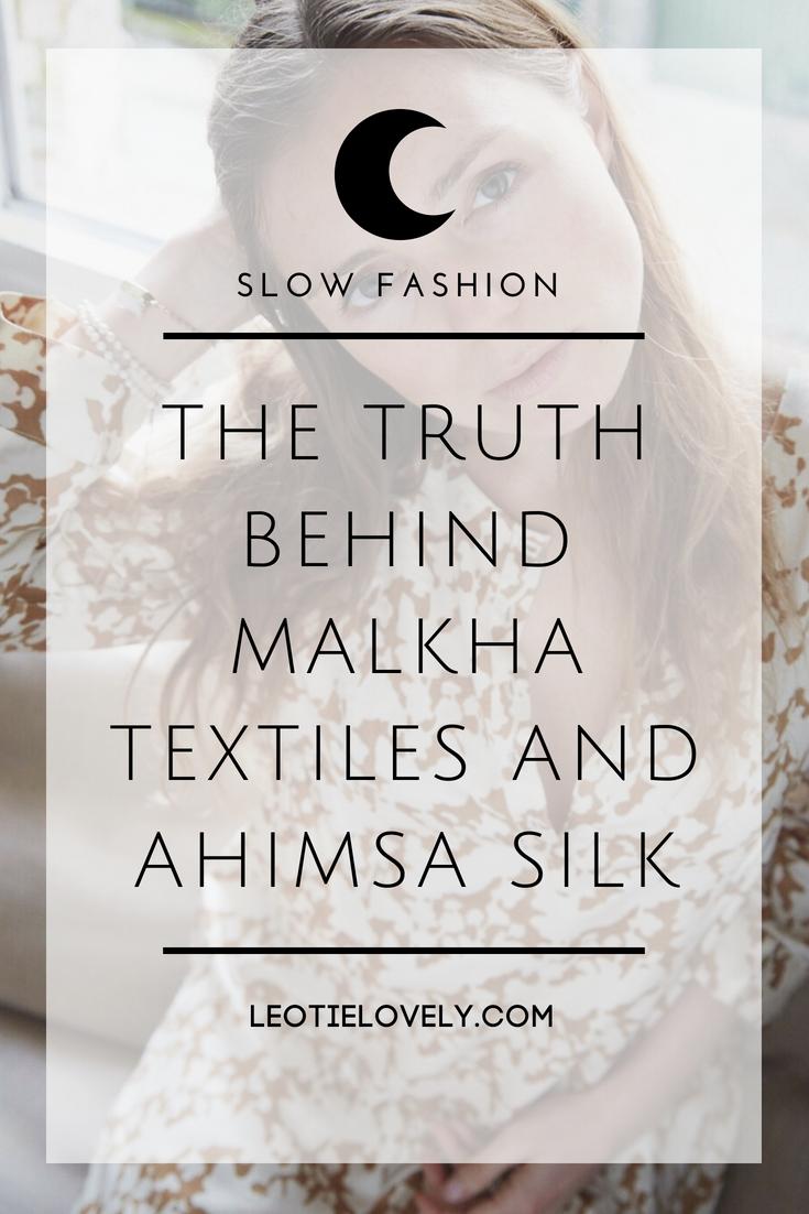 eco friendly, ethical, ethical fashion, eco fashion, slow fashion, malkha textiles, ahimsa silk, green fashion, ethical ootd, slow fashion, sustainable fashion, fashion revolution, leotie lovely, green fashion, circularity, circular story, eco fashion blogger, ethical fashion blogger, sustainable fashion blogger