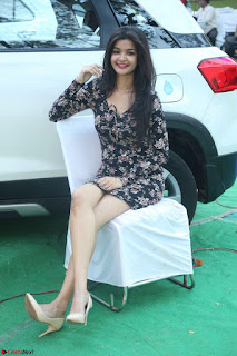 Kritika Telugu cinema Model in Short Flower Print Dress 009.JPG