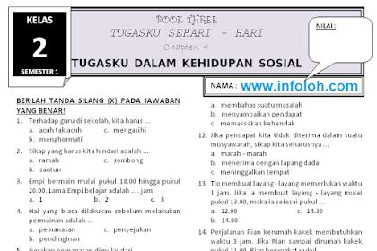Soal Tematik Kelas 2 Tema 3 Subtema 4 - Tugasku Dalam Kehidupan Sosial Terbaru