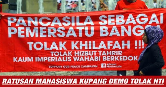 MANTAB !! Penolakan HTI Juga Dilakukan Di Kupang !! Ratusan Orang Teriak Tolak HTI
