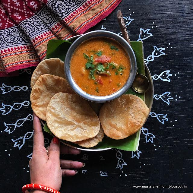 Poori Kurma | Special Kurma Recipe for Poori/Puri