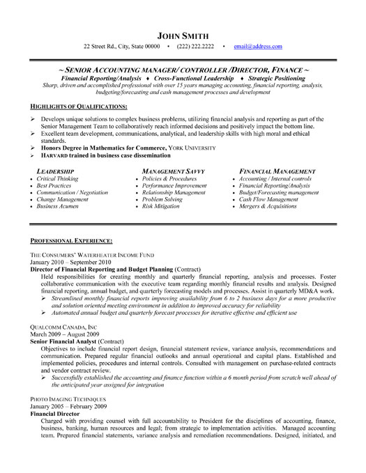 accounting resume examples 2013