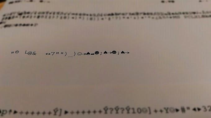 Impressora imprimindo caracteres estranho