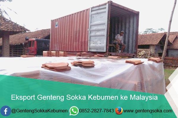Eksport Genteng Sokka Kebumen ke Malaysia