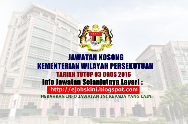 Jawatan Kosong Kementerian Wilayah Persekutuan
