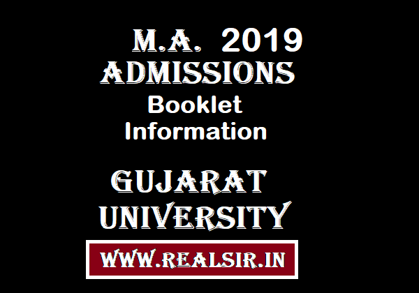 M.A. Admissions Information Booklet -2019 Gujarat University