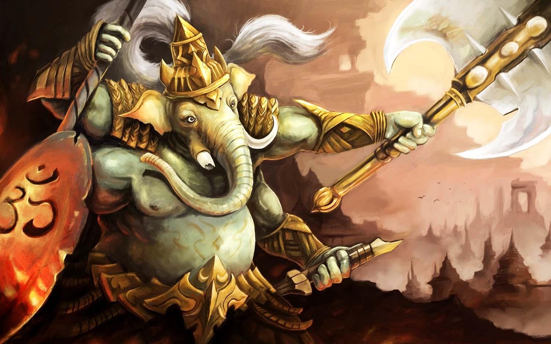 Ganpati Lord Image in roar appearance!