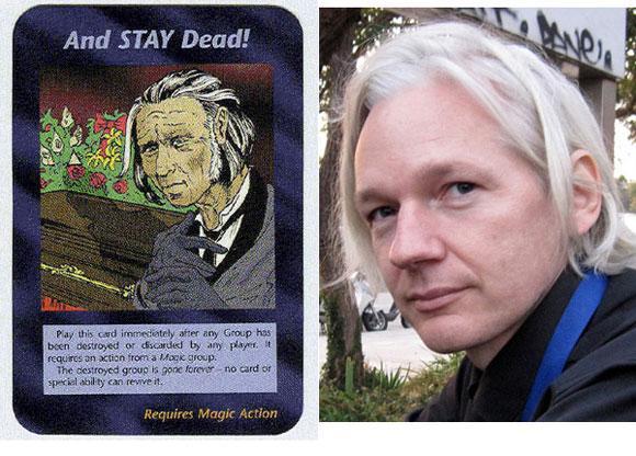Resultado de imagem para new world order card game julian assange