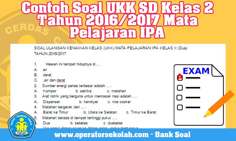 Contoh Soal UKK Kurikulum 2013 Tahun 2016/2017 Mata Pelajaran IPA