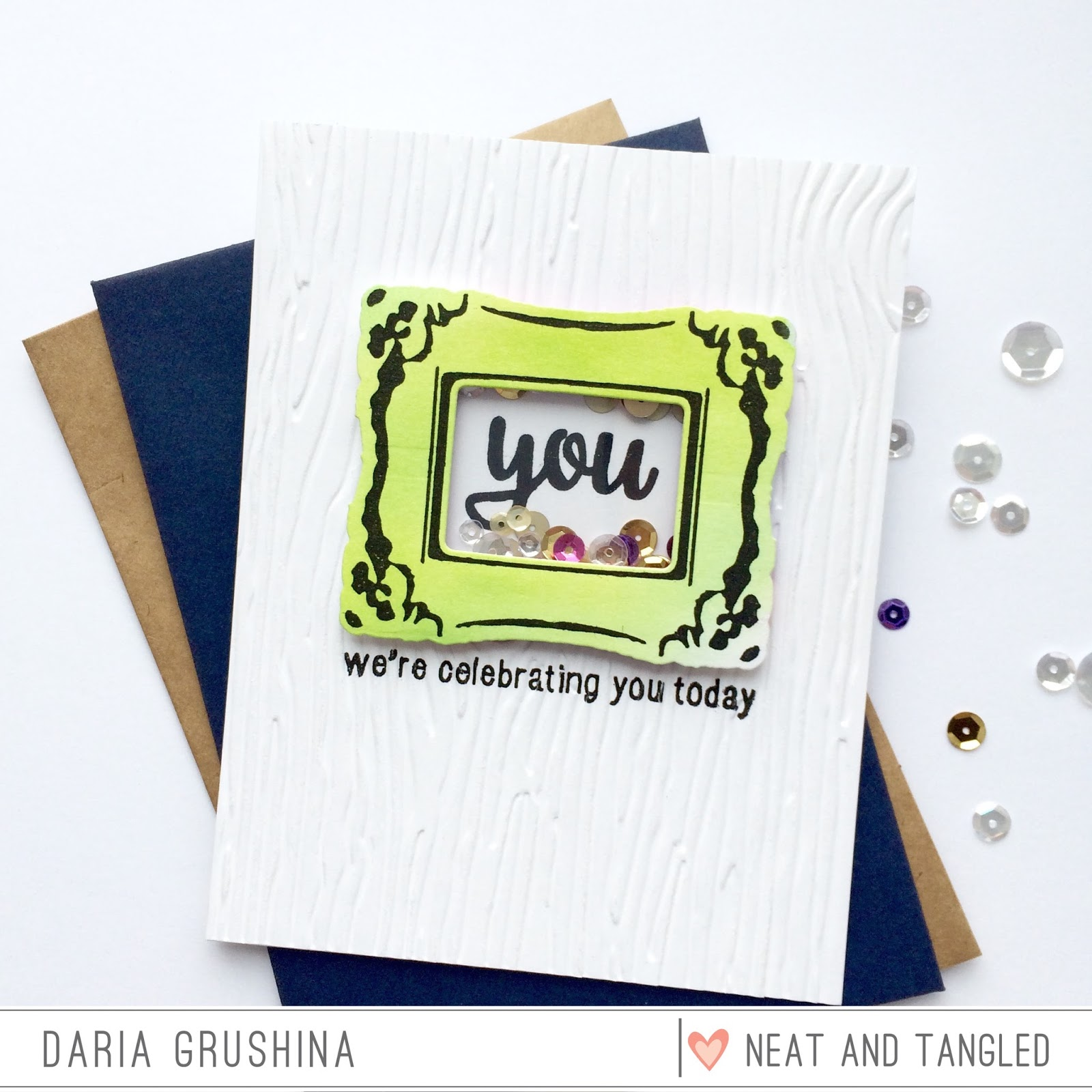Shaker Card and Ornate Frames with Daria - Neat and Tangled
