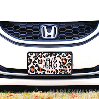Add personality to your car with the cutest license plate!