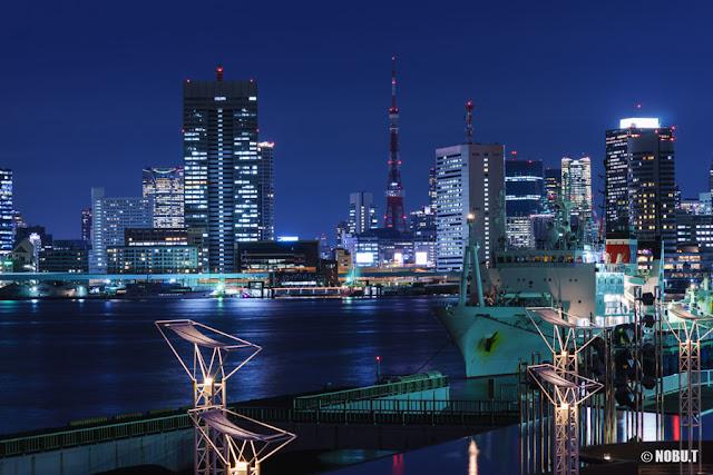 ライトダウンされた東京タワー
