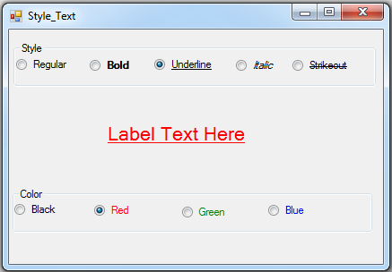 VB NET Text Font Style And Color - C#, JAVA,PHP, Programming ,Source