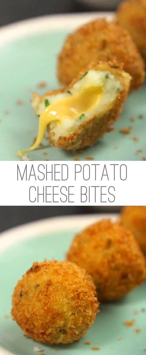 Mashed Potato Cheese Bites