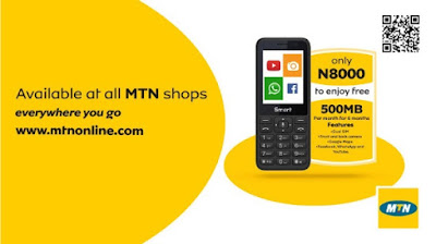 Get Free 500MB Data Monthly With the New MTN Smart Feature Phone