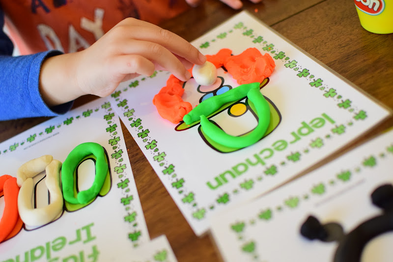 St. Patrick's Day Themed Playdough Mats
