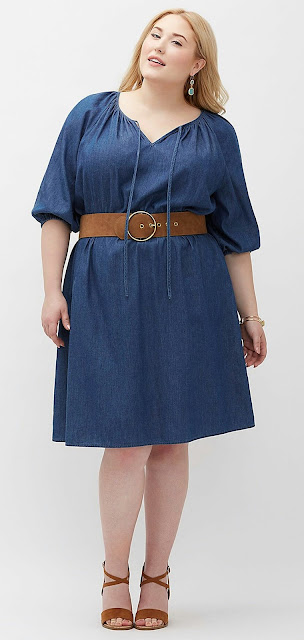 Plus-size-navy-blue-denim-dress