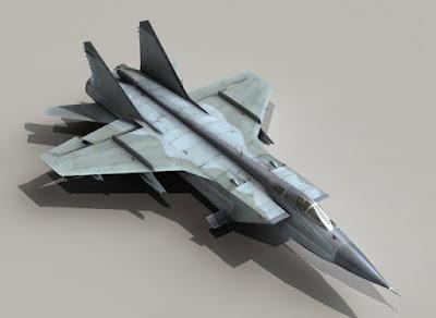 3D Model Aircraft | MiG-31 Foxhound 3d model | Download 3D Model Cad