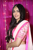Adaa Sharma in White Pink Saree at Zee Telugu Apsara Awards 2017 36.JPG