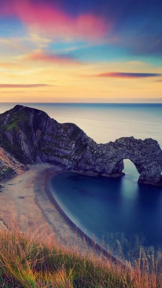 Durdle Door Beach Sunset  Galaxy Note HD Wallpaper