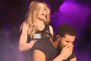 This awkward moment: Drake did not like Madonna's Kiss
