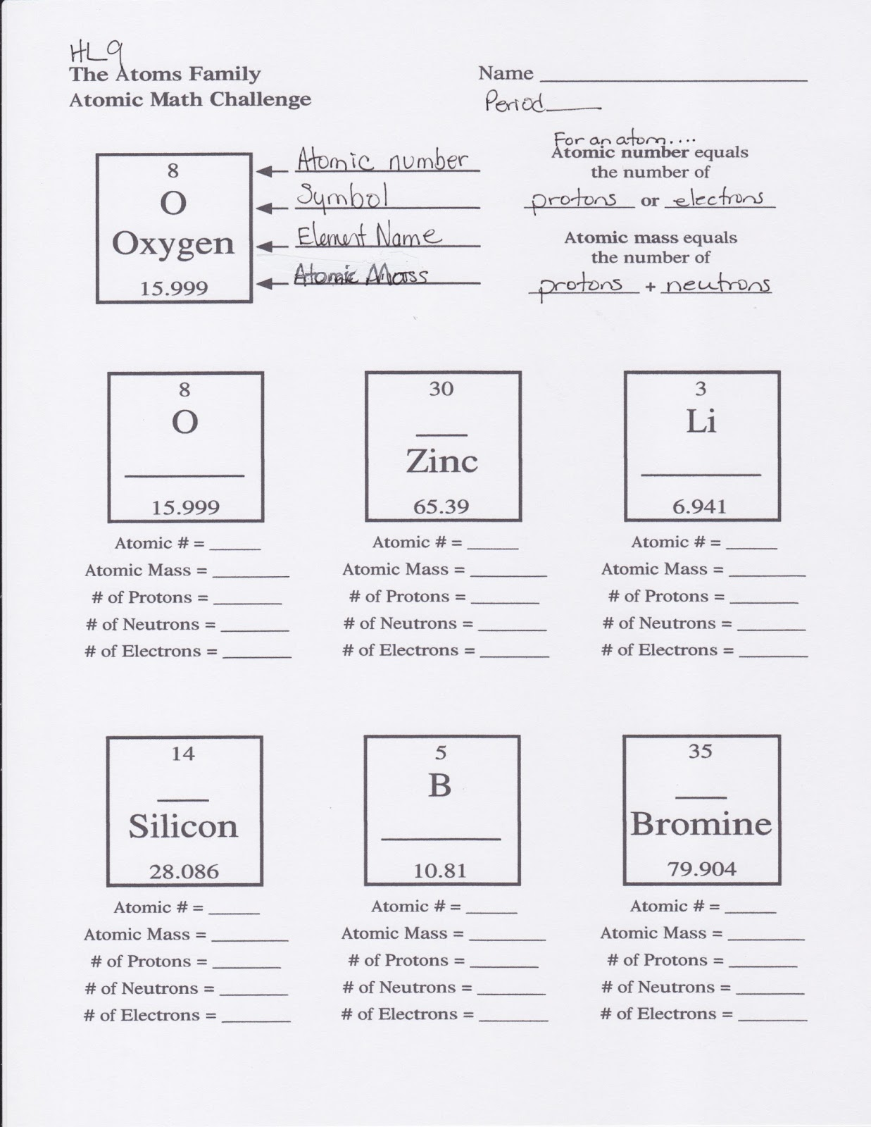 Chemistry a study of matter worksheet electrons in atoms answers