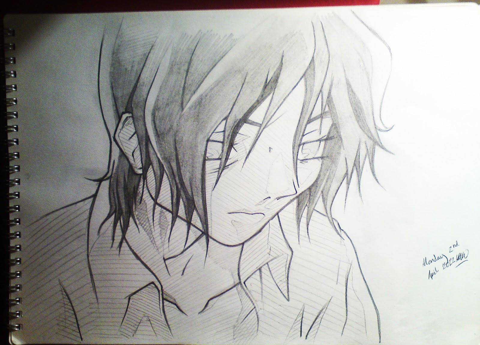 Day 64 monday 2nd april 2012 sad anime boy