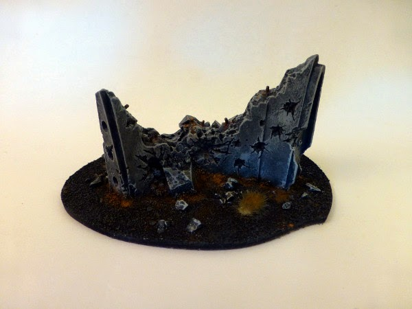 40k terrain - ruined barricade no 3 - back