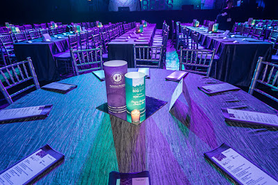 centerpiece, illuminated centerpiece, custom centerpiece, branded centerpiece, custom branding, LED decor, customized lampshade, light up columns, light up event decoration, light up decorations
