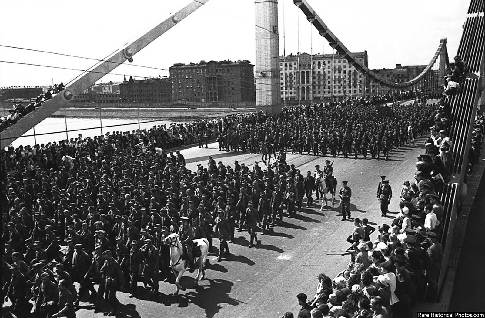 The Germans lost 350,000 men, 160,000 prisoners died on the way to prison camps, 57,000 prisoners were paraded in Moscow.