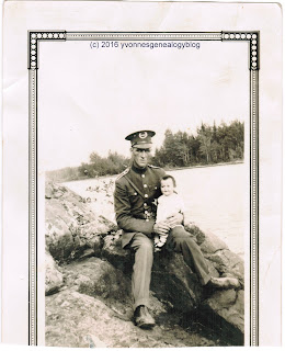 Eugene Desgroseilliers with his daughter Mariette in 1928