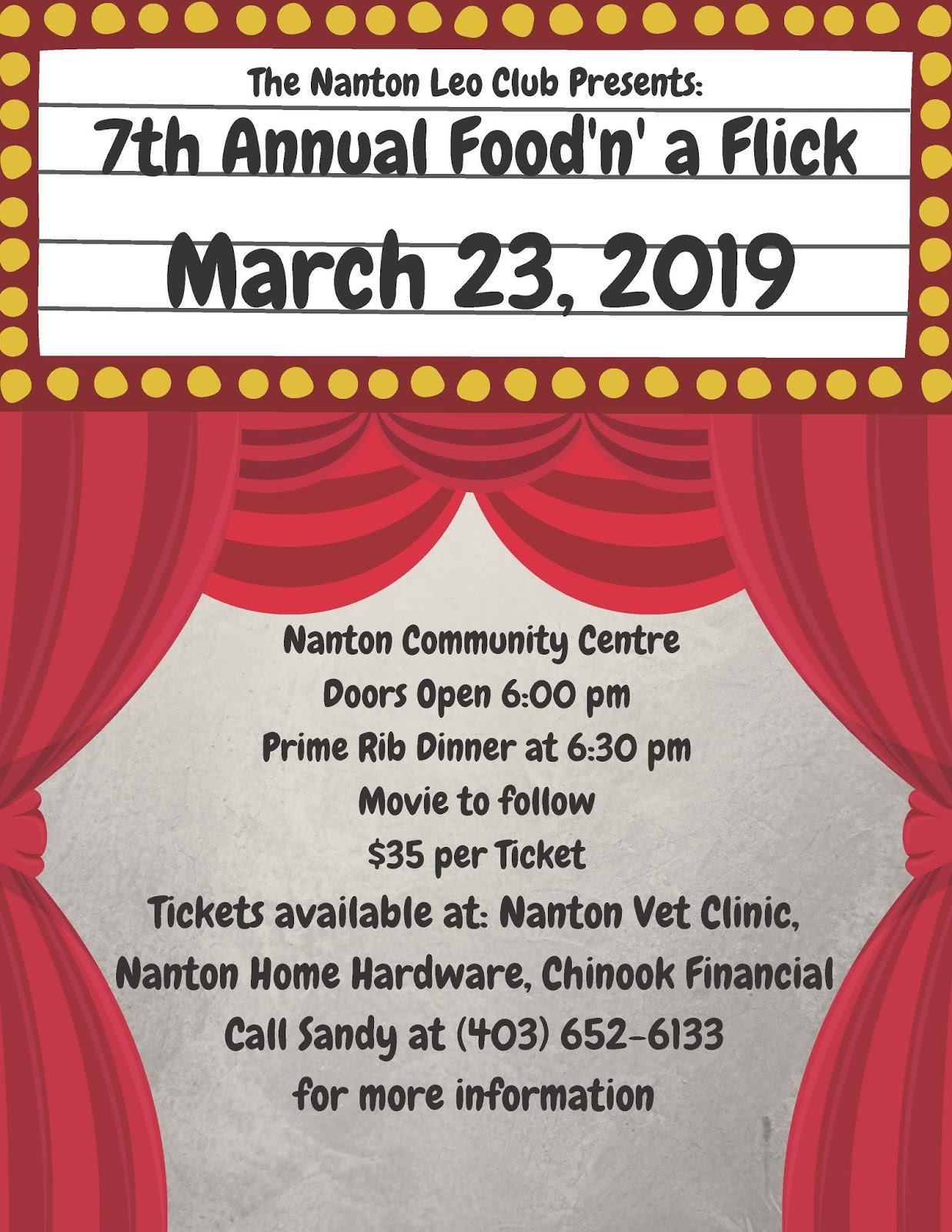 Wednesday 6 February 2019 Nanton Lions Club February 2019