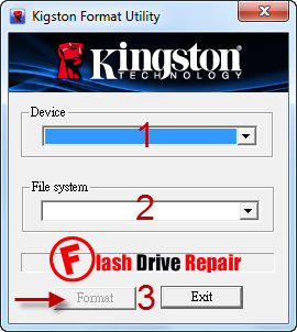 Kingston DTHX30/XX  Format Utility