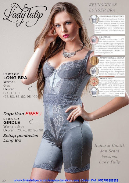 Promo Lady Tulip Desember 2017, Long Bra, Girdle