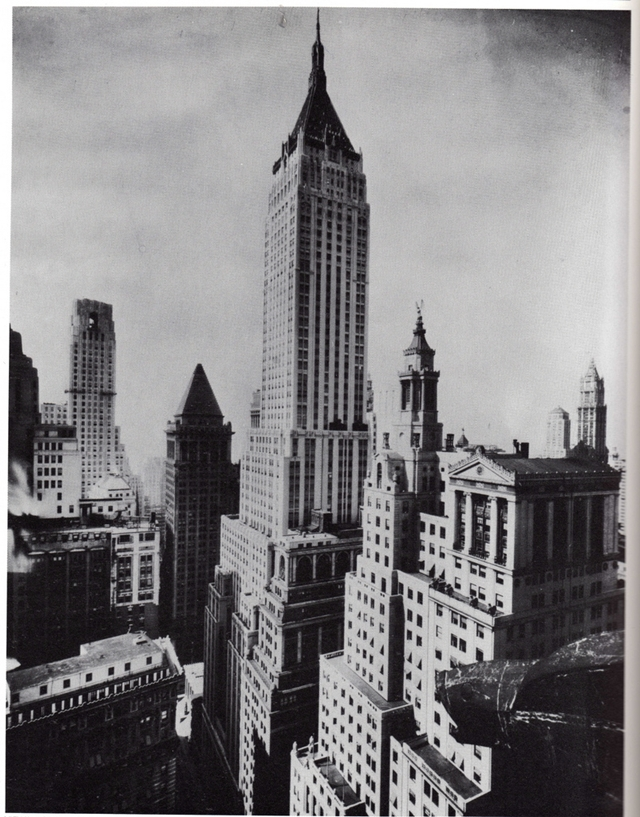 Old picture of the Bank of Manhattan Trust Building, New York City