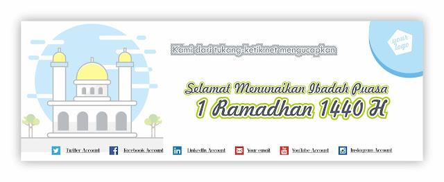 desain spanduk ramadhan 1440h cdr