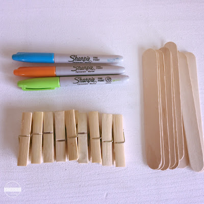 number line math activities supplies include craft sticks or pain sticks and clothes pins