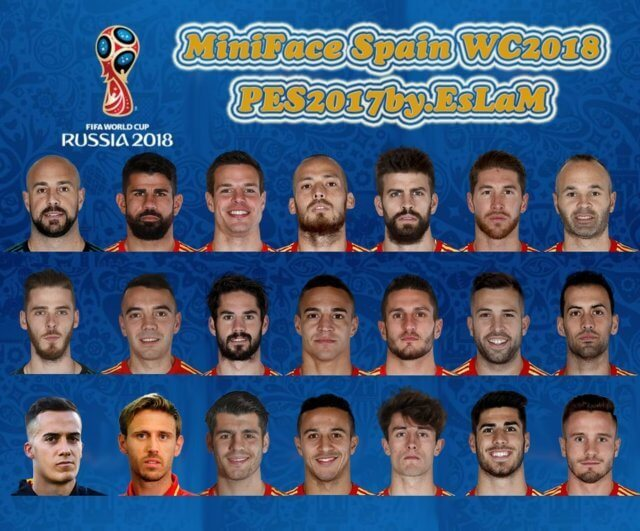 MiniFace Spain World Cup 2018 PES 2017