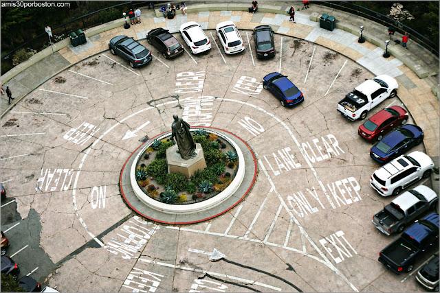 Vistas de la Zona de Parking desde el Observatorio de la Torre Coit