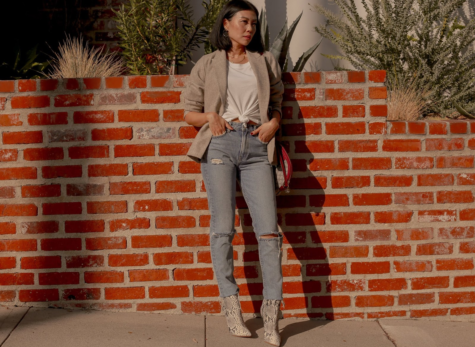 best blazer jeans outfit