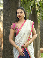 Angana Roy Photo Session in Half saree-cover-photo