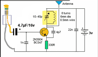 , Construindo um micro transmissor de fm spy bug