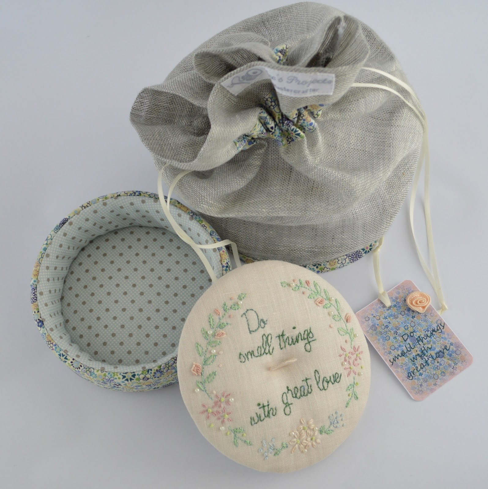 Gee S Projects Nanacompany Swap Trinket Box Linen Bag And