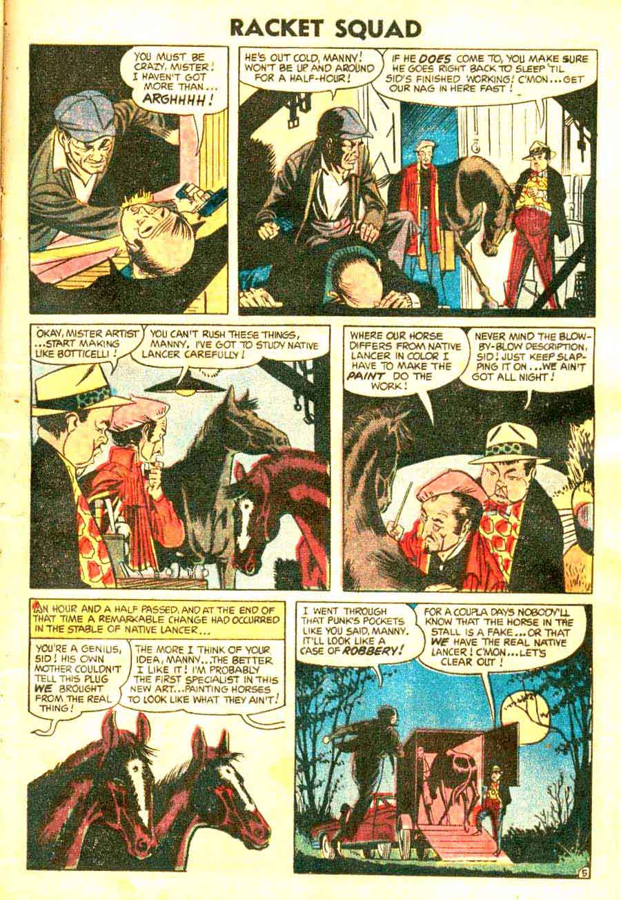 Racket Squad in Action v1 #11 - Steve Ditko golden age crime comic book page art