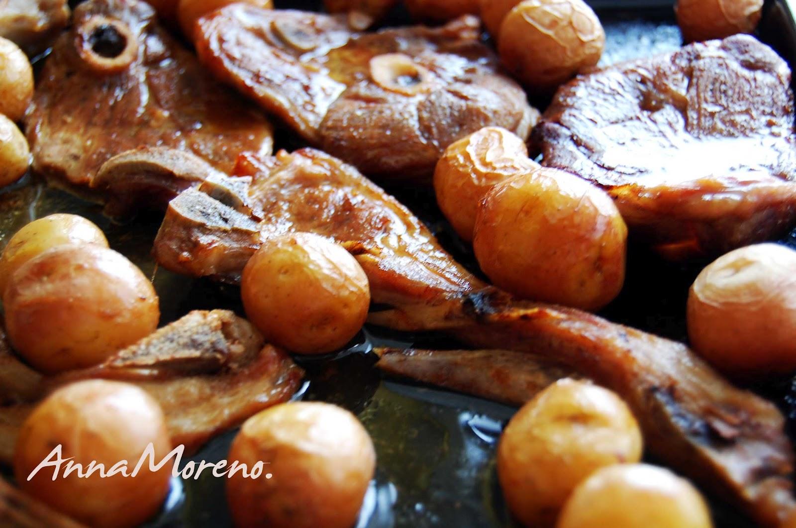 Buenas migas blog de cocina de anna moreno chuletas de cordero al horno con patatas miss blush - Chuletas de cordero al horno con patatas ...
